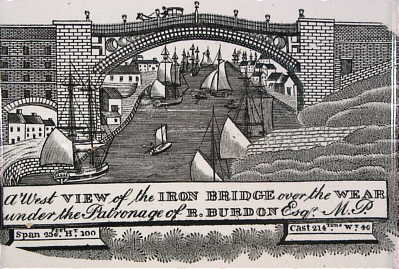 Accessories<br>Archives<br>SOLD   Sunderland Plaque with a view of the Iron Bridge