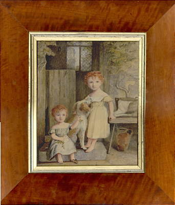 Paintings<br>Archives<br>Watercolor of two children