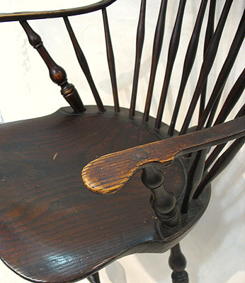 Furniture<br>Furniture Archives<br>SOLD  A Braced Back Continuous Arm Windsor