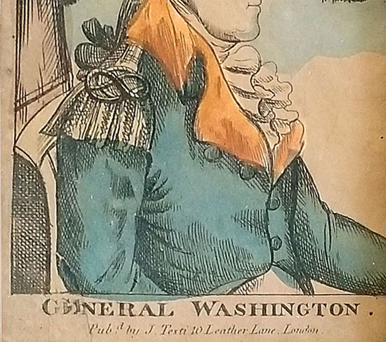 Pair of Prints George & Martha Washington
