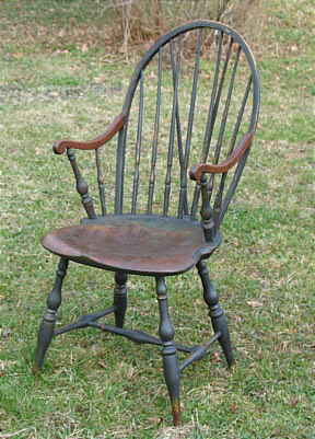Furniture<br>Furniture Archives<br>SOLD  Rhode Island Brace-Back Windsor Chair