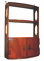 SOLD  Continental Fruitwood Hanging Shelf
