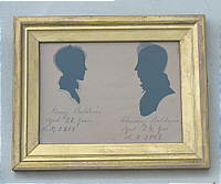 SOLD   A Double silhouette of the Baldwins
