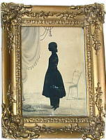 SOLD   A Full-figure Silhouette of a Girl