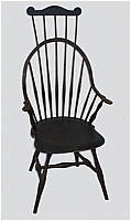 SOLD  A Continuous Arm Windsor Comb-back Chair