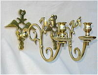 A Pair of Brass Sconces