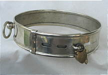SOLD   Early Paktong Dog Collar