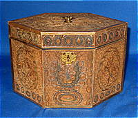 SOLD   Quillwork Tea Caddy