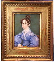 Portrait Miniature of a Woman in a Blue Dress