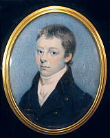 Portrait Miniature of a Young Man
