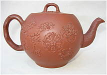 SOLD   An Early Red Stoneware Teapot
