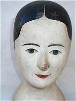 SOLD   A Milliner's Head or Wig Stand