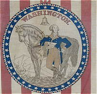 SOLD   A Commemorative Washington textile