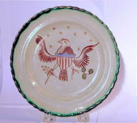 SOLD  Pearlware Eagle Plate