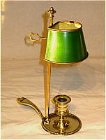 Brass and Tin Bouillotte Lamp
