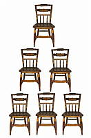 SOLD  A set of six chairs.