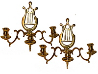 A Pair of Three-Armed Sconces
