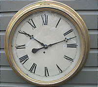 SOLD   A Victorian Connecticut Gallery Clock