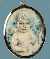 An Adorable Miniature Portrait of a Baby