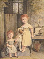 Watercolor of two children