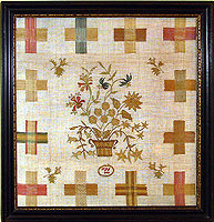 SOLD   English Darning Sampler Dated 1802