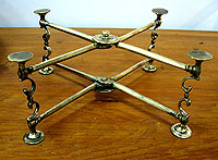 Georgian Brass Dish Cross