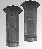 A Pair of American Tin Sconces