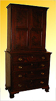 SOLD A Gentleman's Chest and Bookcase