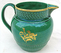 SOLD   A Green Glazed Jug