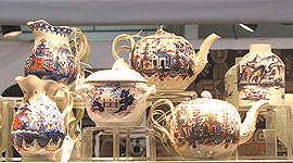 SOLD  A collection of Imari colored pearlware
