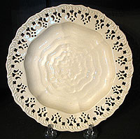 SOLD    A Creamware Feather-edge Plate