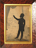SOLD  A Silhouette cut by A. Edouart