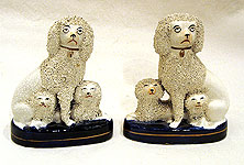 SOLD A Pair of Staffordshire Poodles wtih Puppies