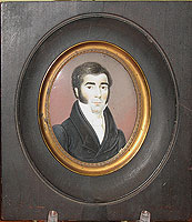 SOLD  Miniature Portrait of a Handsome Man