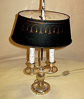 SOLD  A French Bouillotte Lamp