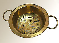 SOLD  Antique Brass Colander