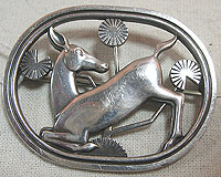 SOLD  Georg Jensen Deer Pin