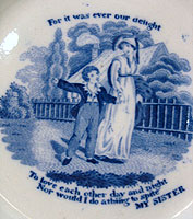 SOLD   An Early Transferware Plate by Rogers
