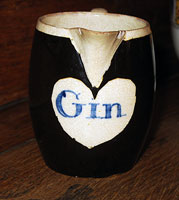 SOLD  An Adorable Mocha Gin Jug with a Heart