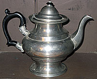 SOLD  An American Pewter Teapot