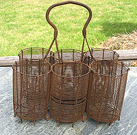 SOLD  A Wire Bottle Caddy