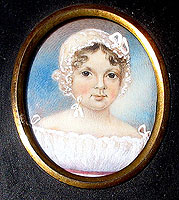 SOLD Miniature Portrait of a Child