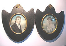 SOLD A Pair of Miniature Portraits in Rare Frames