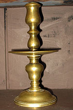 Brass Heemskerk or Middrip Candlestick