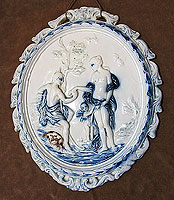 SOLD  Pearlware Plaque of Paris and Oenone