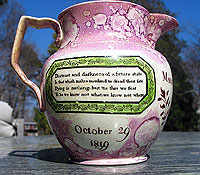 SOLD  Margeret Griffiths 1819 Sunderland Jug