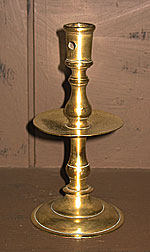 SOLD  Brass Heemskerk or Middrip Candlestick