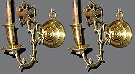 Pair of Russian Brass Sconces