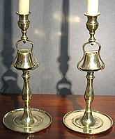 Pair of Brass Tavern Candlesticks