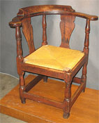 SOLD  Spanish Foot Corner Chair